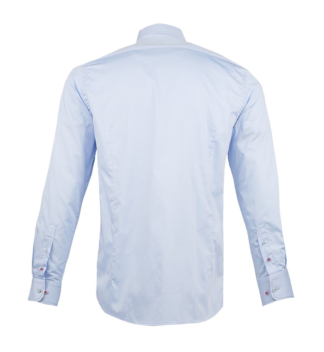 Guide Cotton sateen shirt sky - Leonard Silver