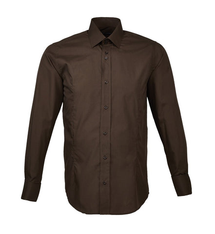 brown double cuff shirt