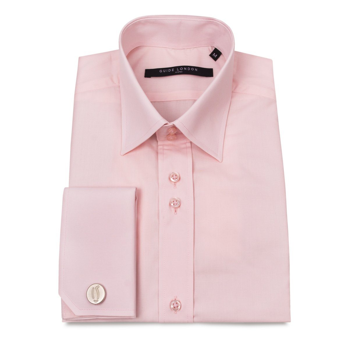 PINK Classic Double Cuff Shirt - Leonard Silver