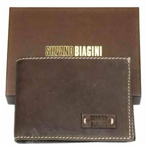 Mens Silvano Biagini Leather Wallet, Brown