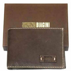 SILVANO BIAGINI Mens Silvano Biagini Leather Wallet, Brown - Leonard Silver