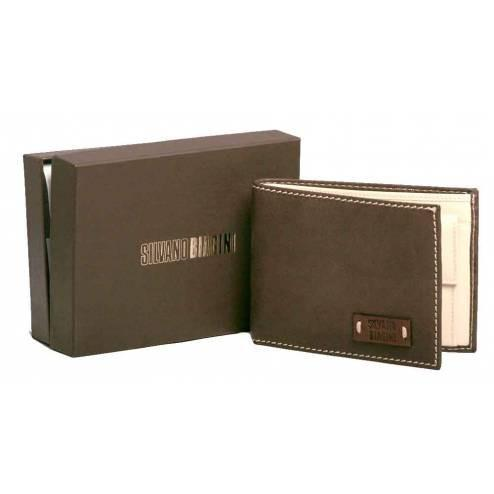 SILVANO BIAGINI Silvano Biagini Brown Leather Wallet - Leonard Silver