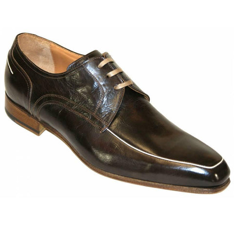 Mens Morelli Shoes, Lace up, Chocolate Brown