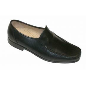 Mens Barker Shoes, Javron, Black - Leonard Silver