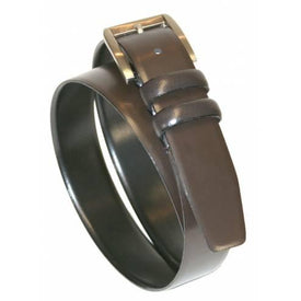 IBEX Mens Classic Leather Belt, Brown - Leonard Silver