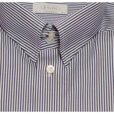 Eton Shirt Contemporary Fit Blue Bengal Stripe