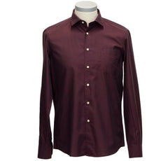 Florentino Shirt, Burgundy Cotton