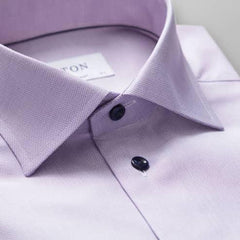Eton Shirt, Contemporary Fit, Lilac Twill