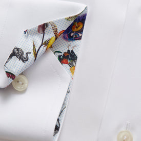 Poplin Business Shirt White - Leonard Silver