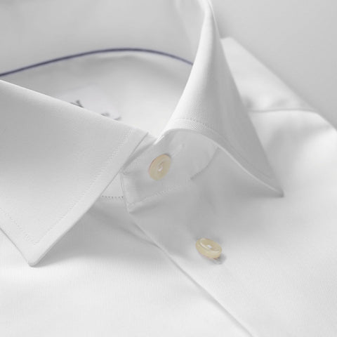 Eton Signature Twill Shirt Slim Fit White - Leonard Silver