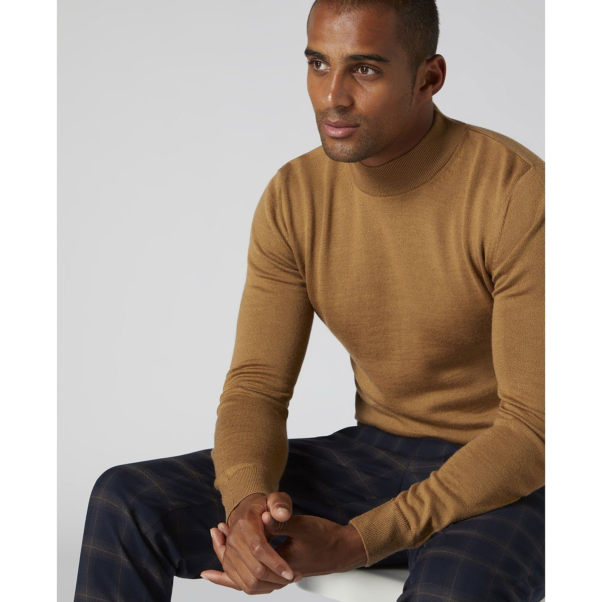 Caramel Turtle Neck Sweater