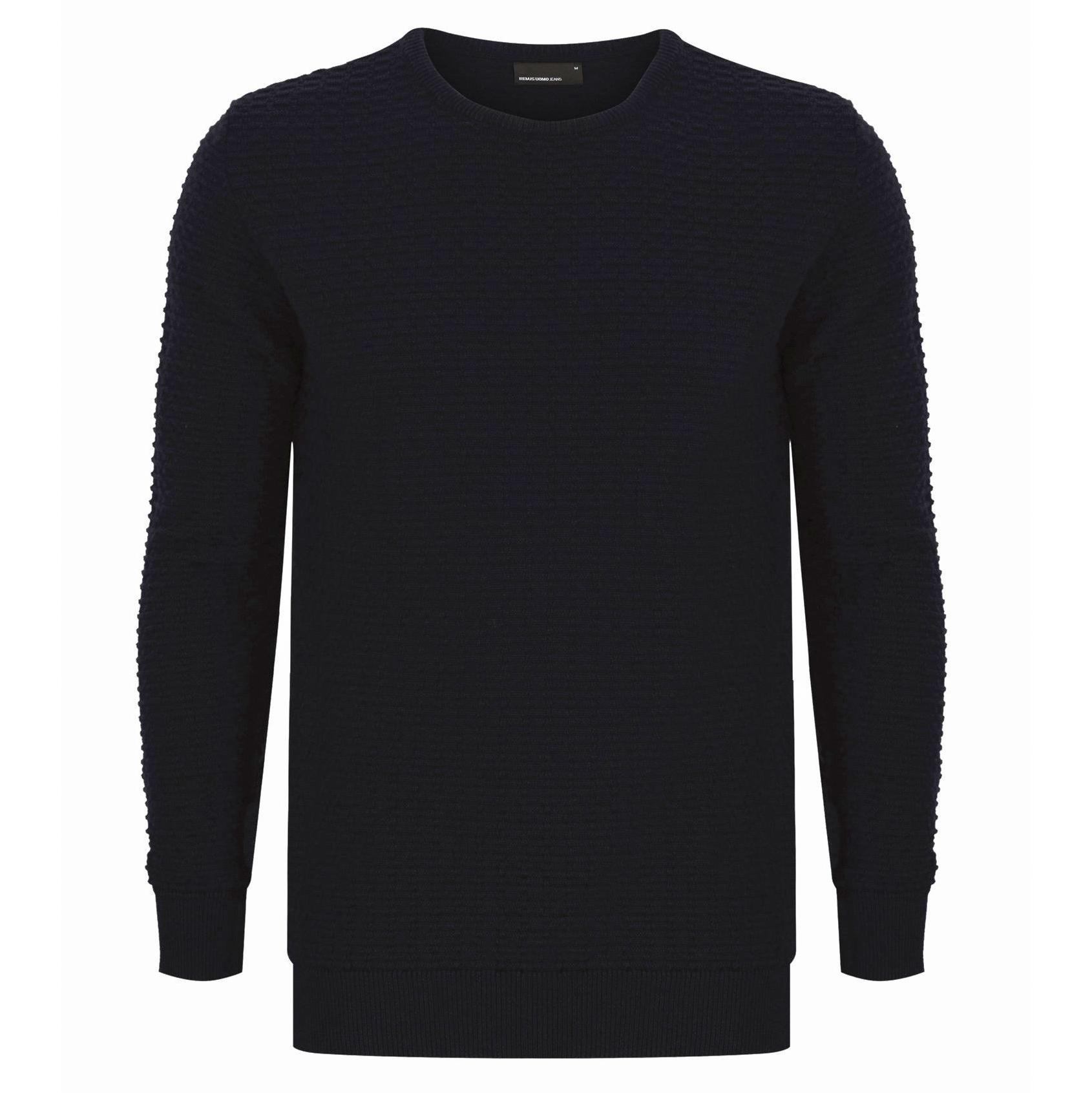 Crew neck Sweater Navy - Leonard Silver