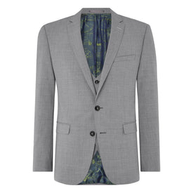 Grey Slim Fit Wool Suit - Leonard Silver