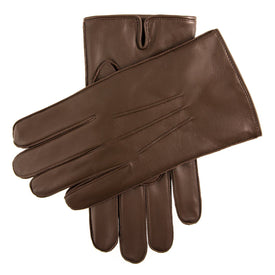 Fleeced Lined Leather Gloves - Leonard Silver