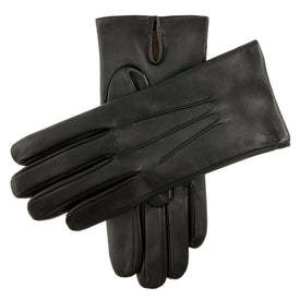 Cashmere Lined Leather Gloves - Leonard Silver