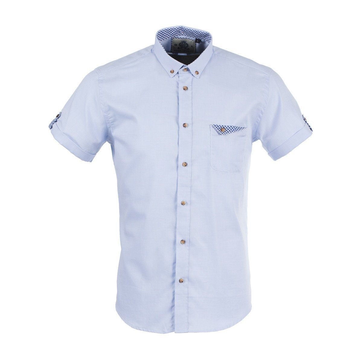 SKY Short Sleeve Oxford Shirt - Leonard Silver