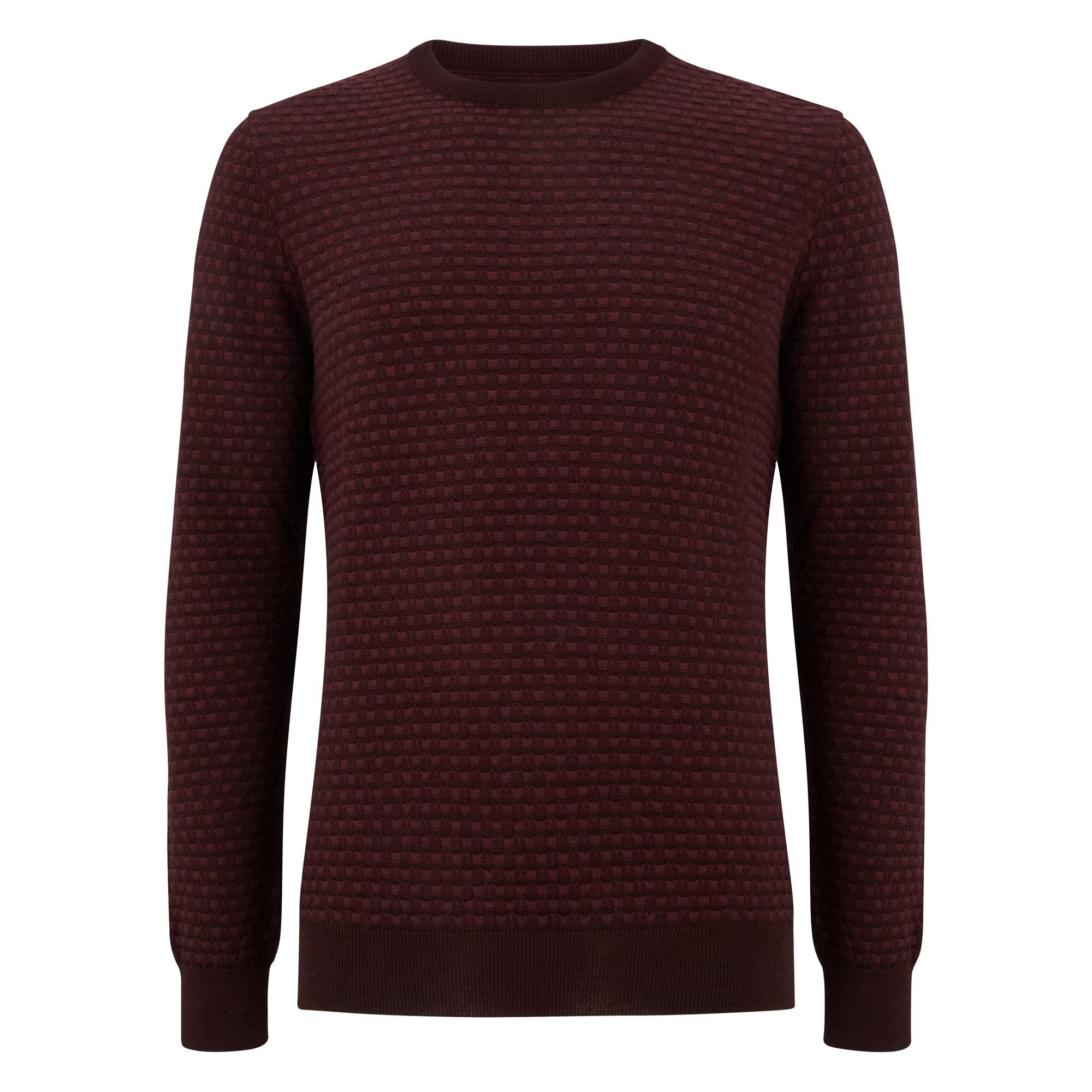 Burgundy Crew Neck Sweater