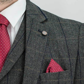 Grey Tweed 3Piece Suit - Leonard Silver