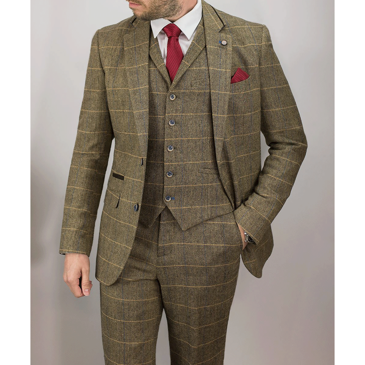 Brown Tweed 3Piece Suit
