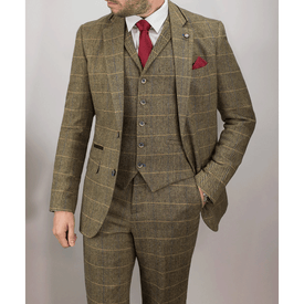 Brown Tweed 3Piece Suit - Leonard Silver