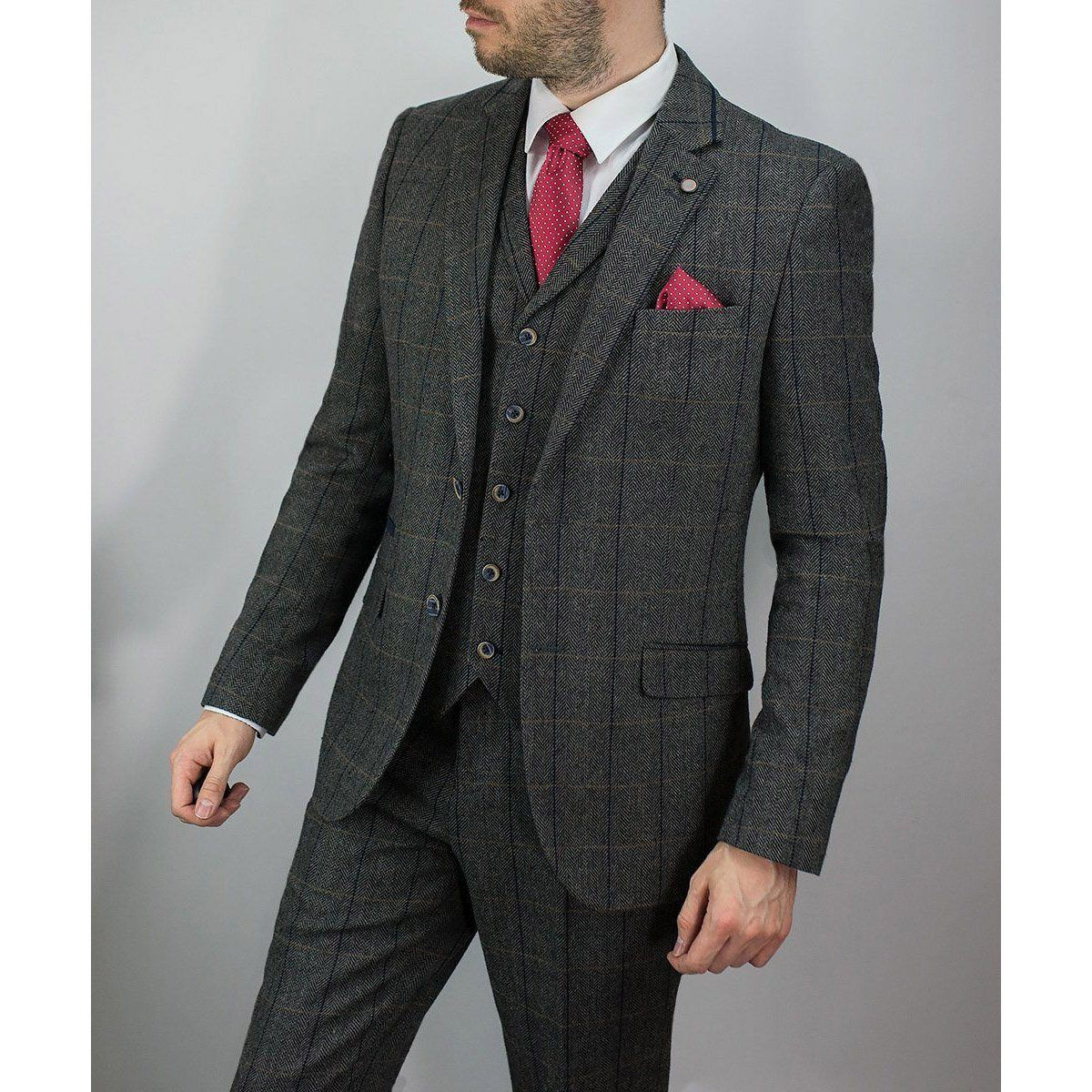 Grey Tweed Jacket - Leonard Silver