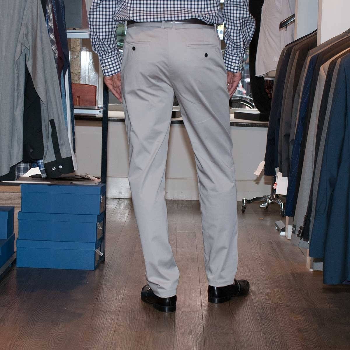 John Victor Chino Style Trousers Stone