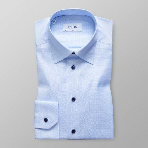 Eton Sky Blue Button-Under Shirt - Leonard Silver