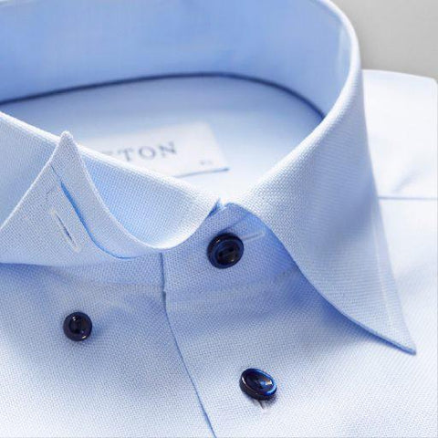 Sky Blue Button-Under Shirt - Leonard Silver