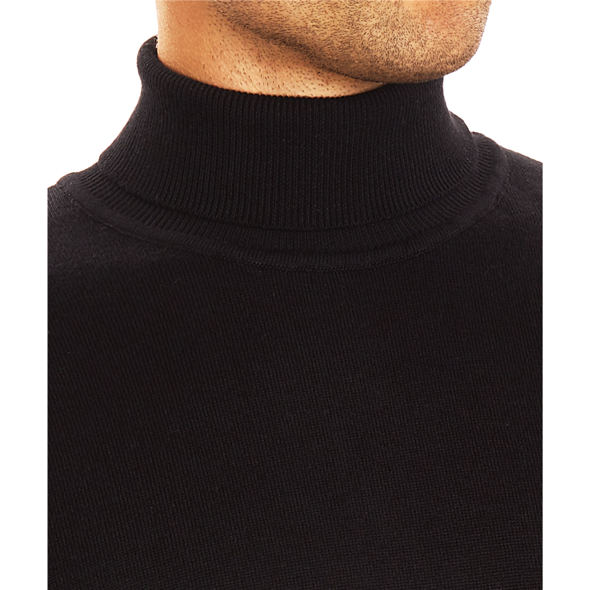 Guide London Black Roll Neck - Leonard Silver