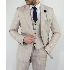 Ivory Check Suit