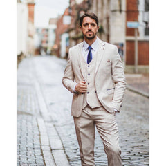 Ivory Windowpane Check Suit