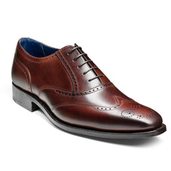 Mens Barker Shoes, Johnny, Brown - Leonard Silver