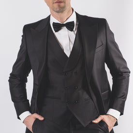 Peak Lapel Dinner Suit - Leonard Silver