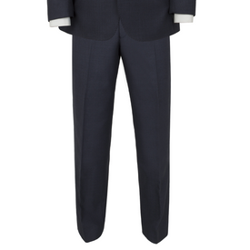 Alfred Brown Blue Wool Trousers - Leonard Silver