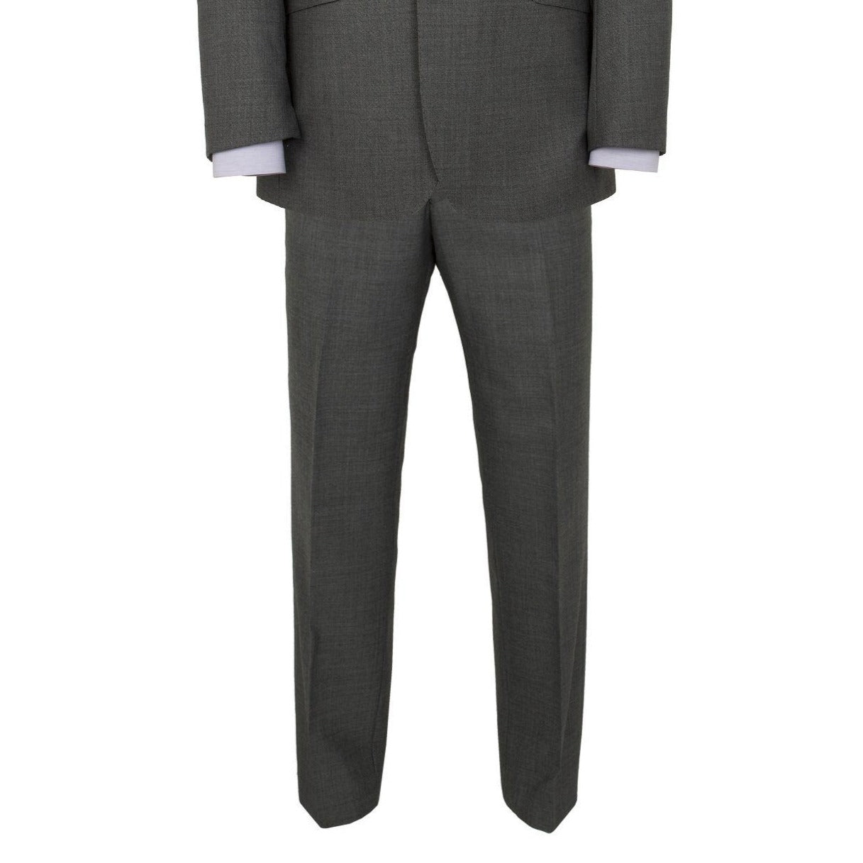 Alfred Brown Charcoal Grey Wool Trouser - Leonard Silver