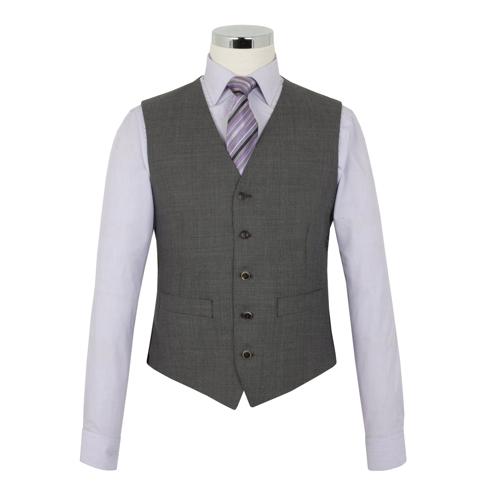 The Label Waistcoat, Charcoal Grey - Leonard Silver