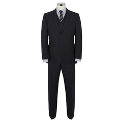 Alfred Brown Navy Wool Suit