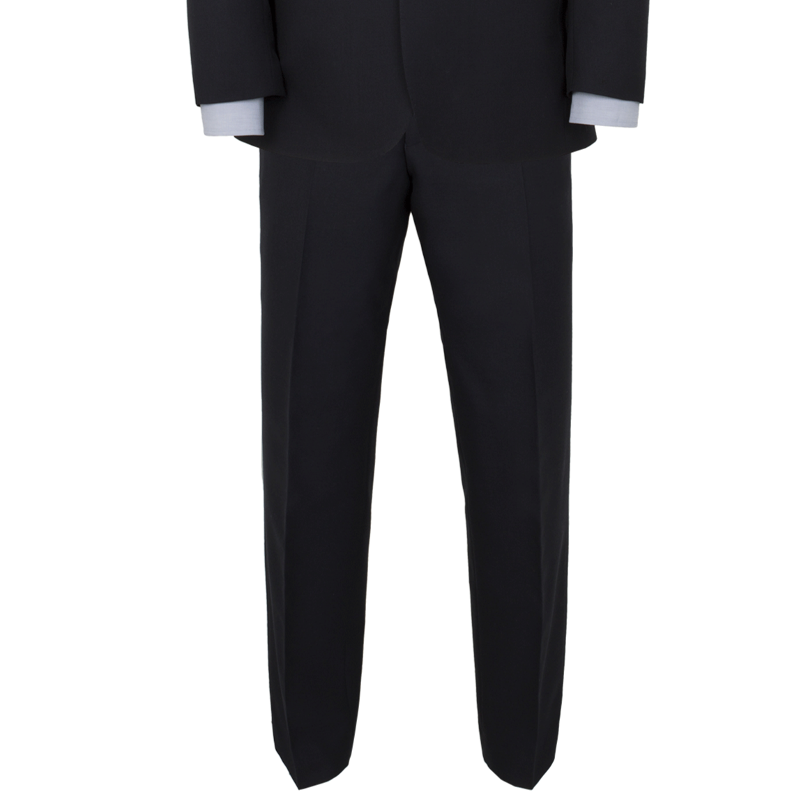 Alfred Brown Navy Wool Trouser - Leonard Silver