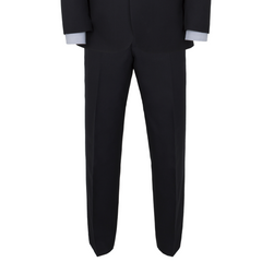 Alfred Brown Navy Wool Trouser