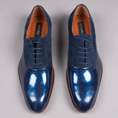 Lacuzzo Patent Leather Derby - Leonard Silver