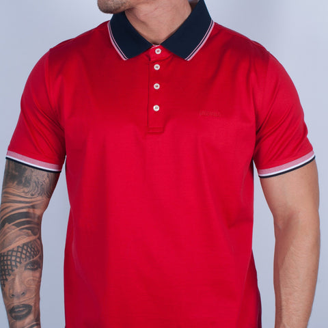 Red Jersey Polo Shirt - Leonard Silver