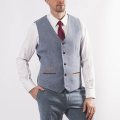 Sky Tweed Suit
