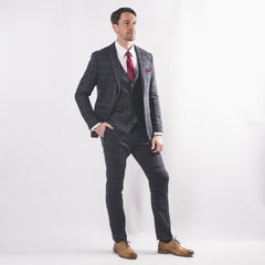 Harold Blue Tweed Suit