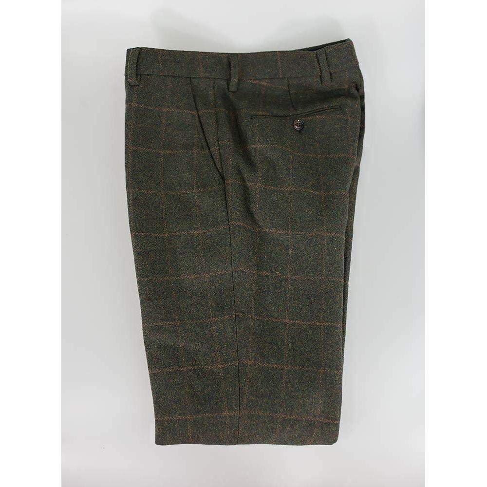 Olive Green Tweed Trousers - Leonard Silver