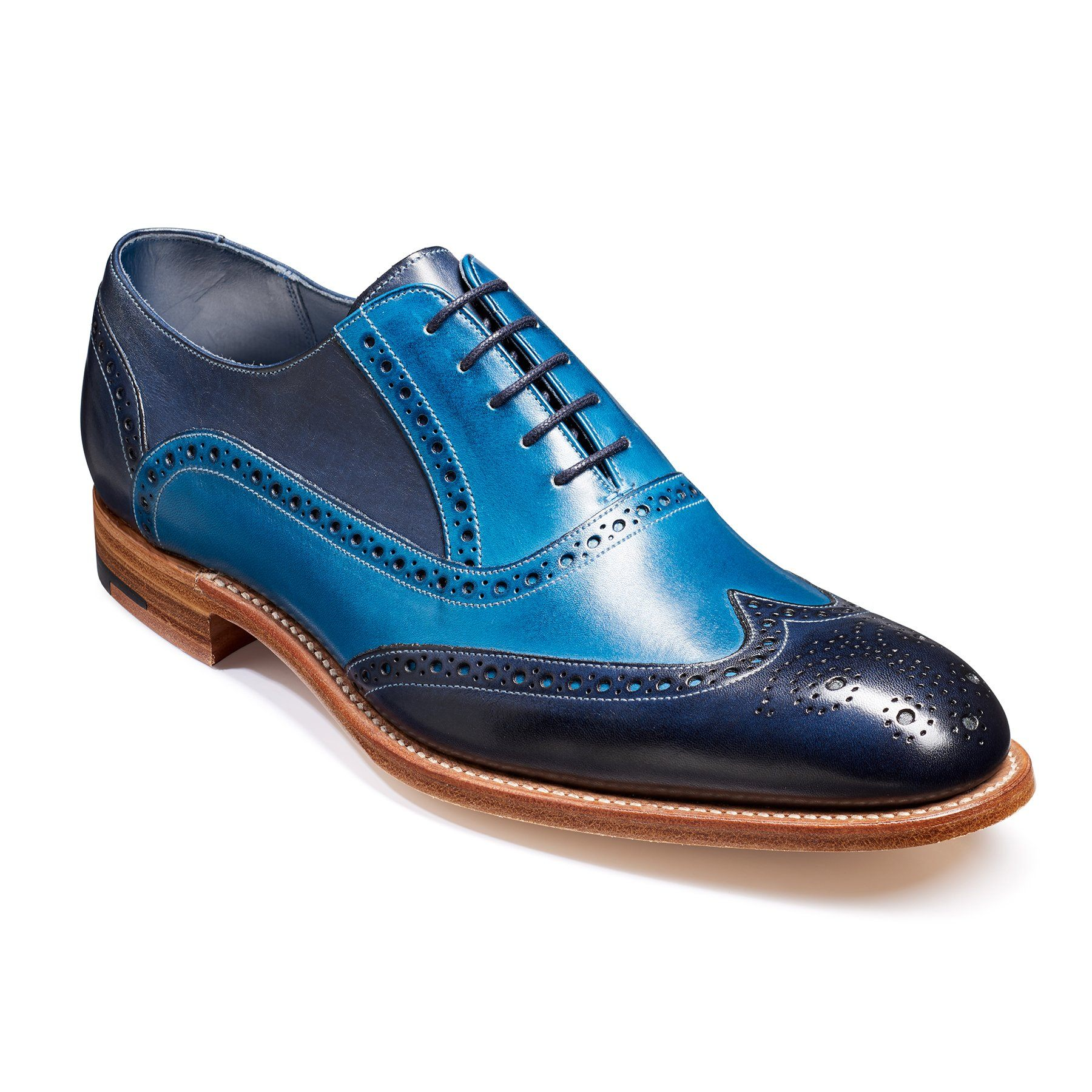Valiant NavyBlue Painted Brogues