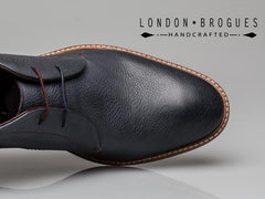 London Brogues Wister Chukka Leather Boot Navy Tumbled