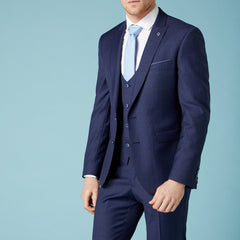 Abstract Micro Check Wool Suit