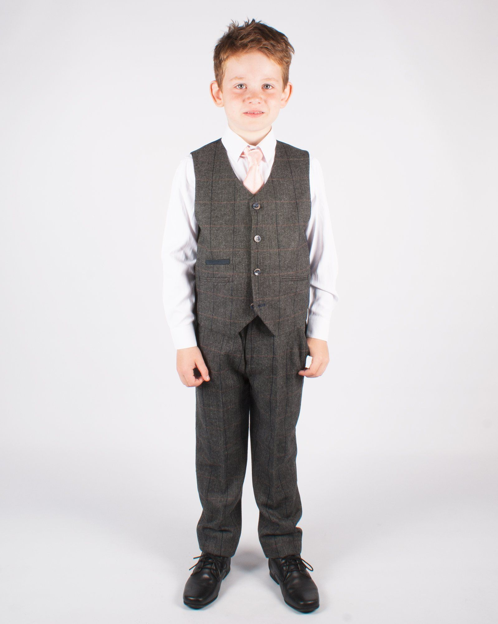 Boy's Grey Tweed Suit - Leonard Silver