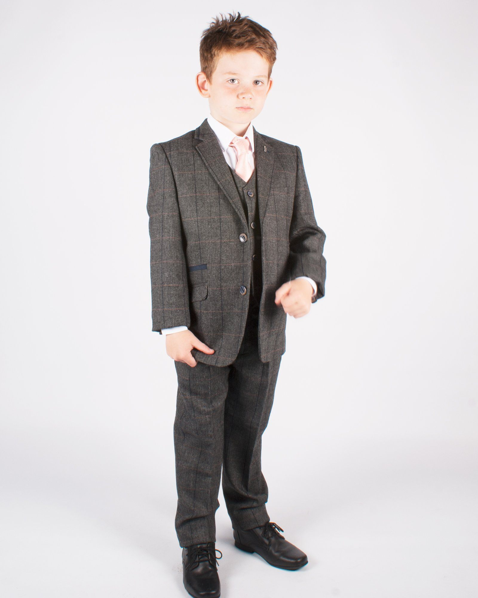 Boy's Grey Tweed Suit