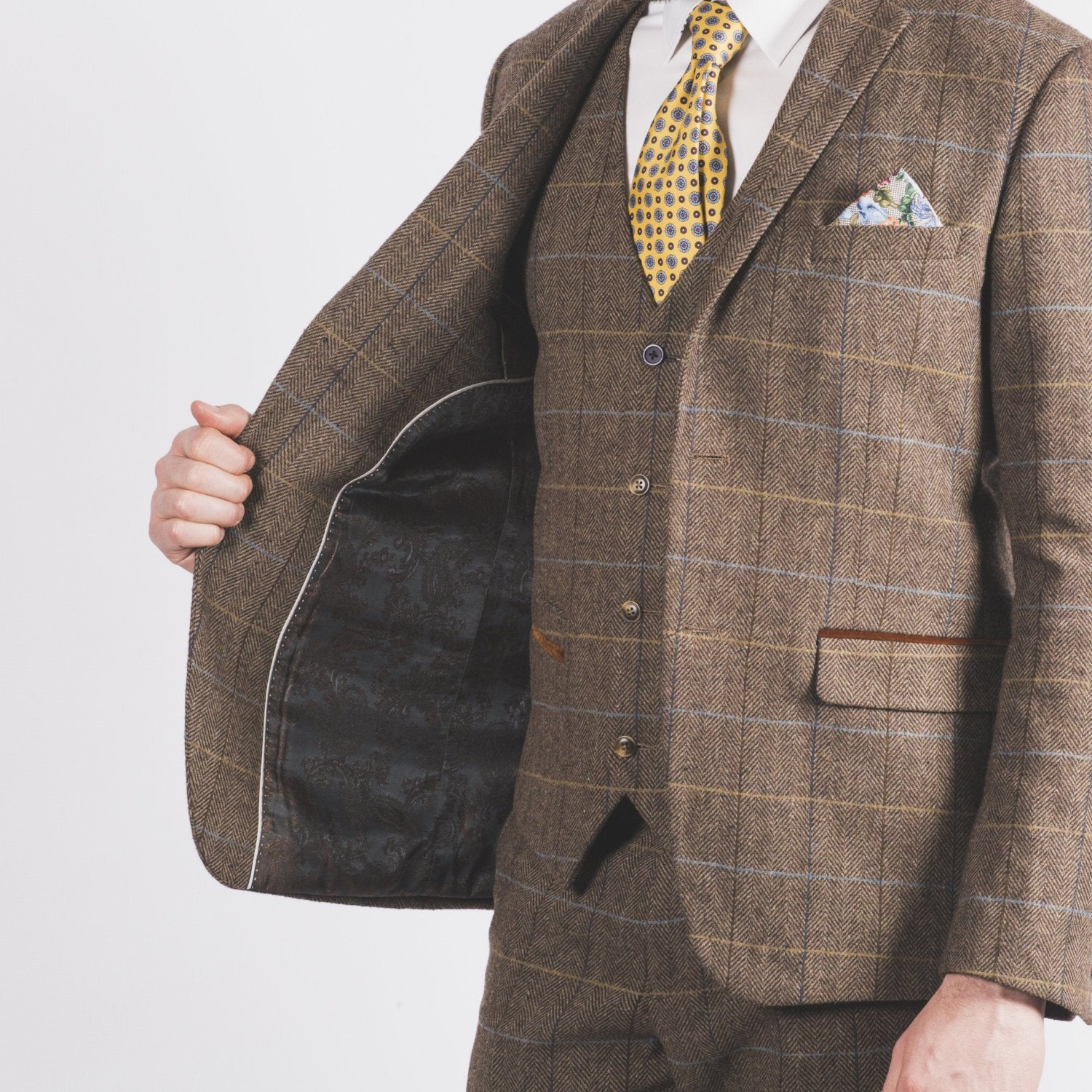 Arthur Brown Tweed Suit - Leonard Silver